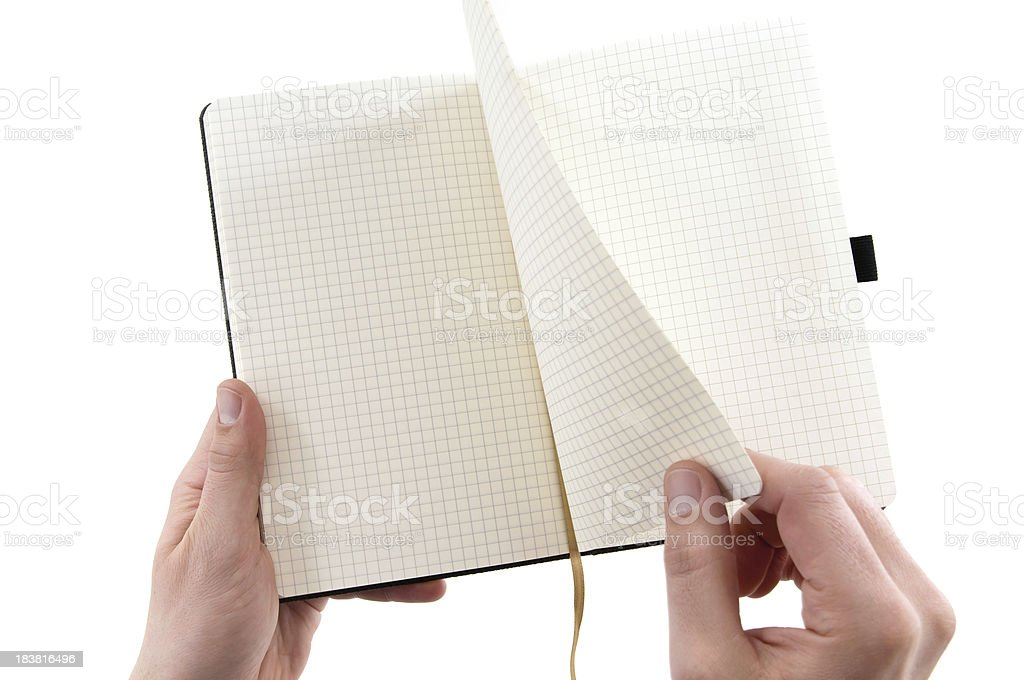 turning page on a book royalty-free stock photo