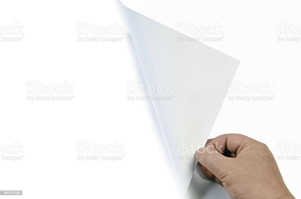 turning page royalty-free stock photo