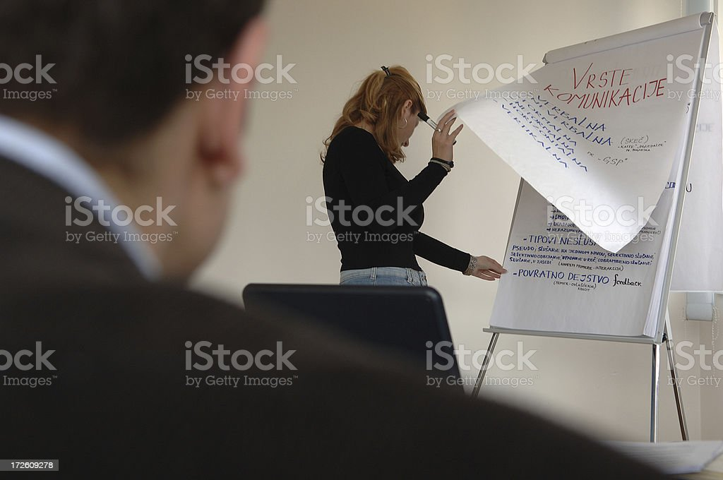 turning paper at the business training royalty-free stock photo