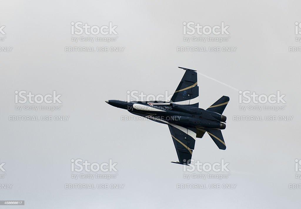 CF-18 Turning stock photo