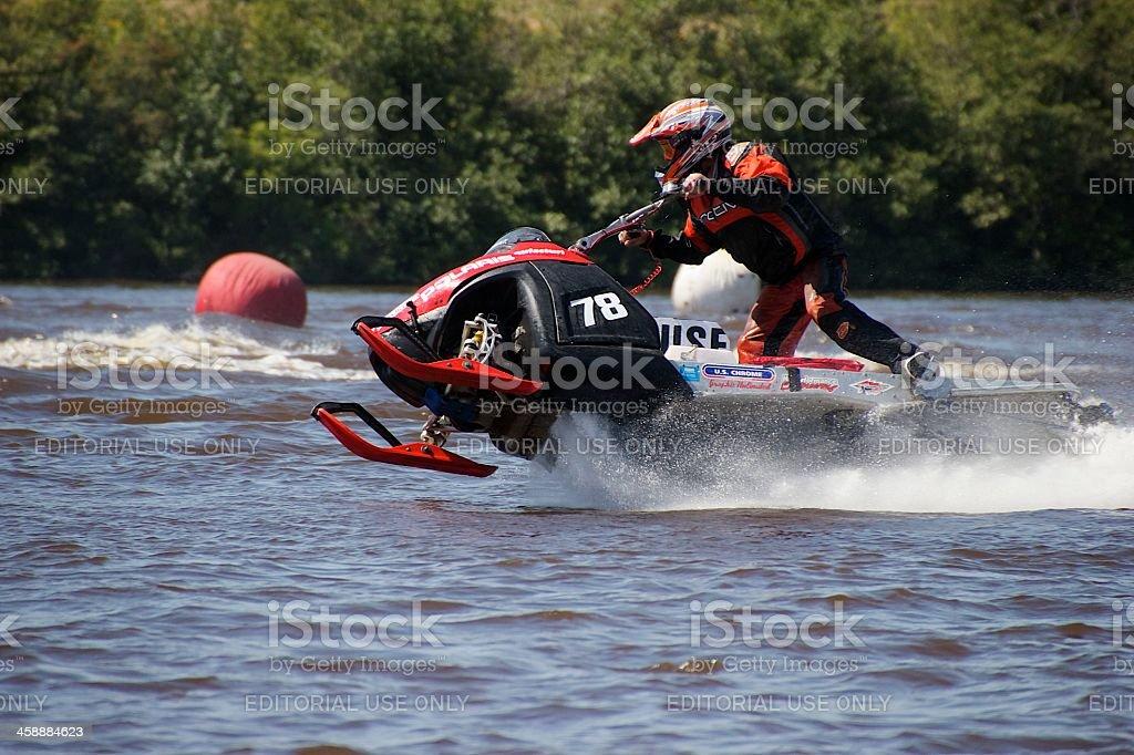 Turning Race Course Mark royalty-free stock photo