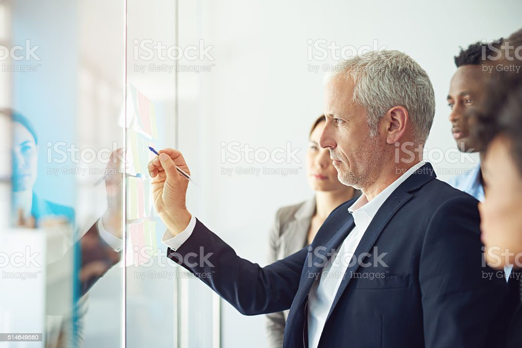 Turning their vision into reality stock photo