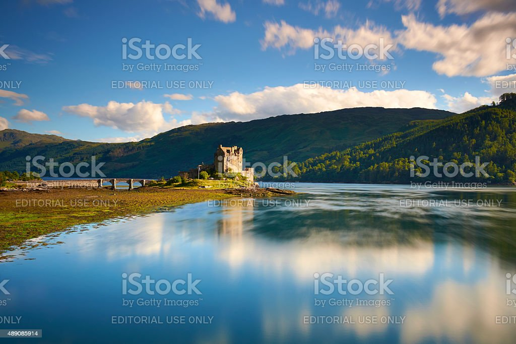 Turning Tide At Eilean Donan Castle stock photo