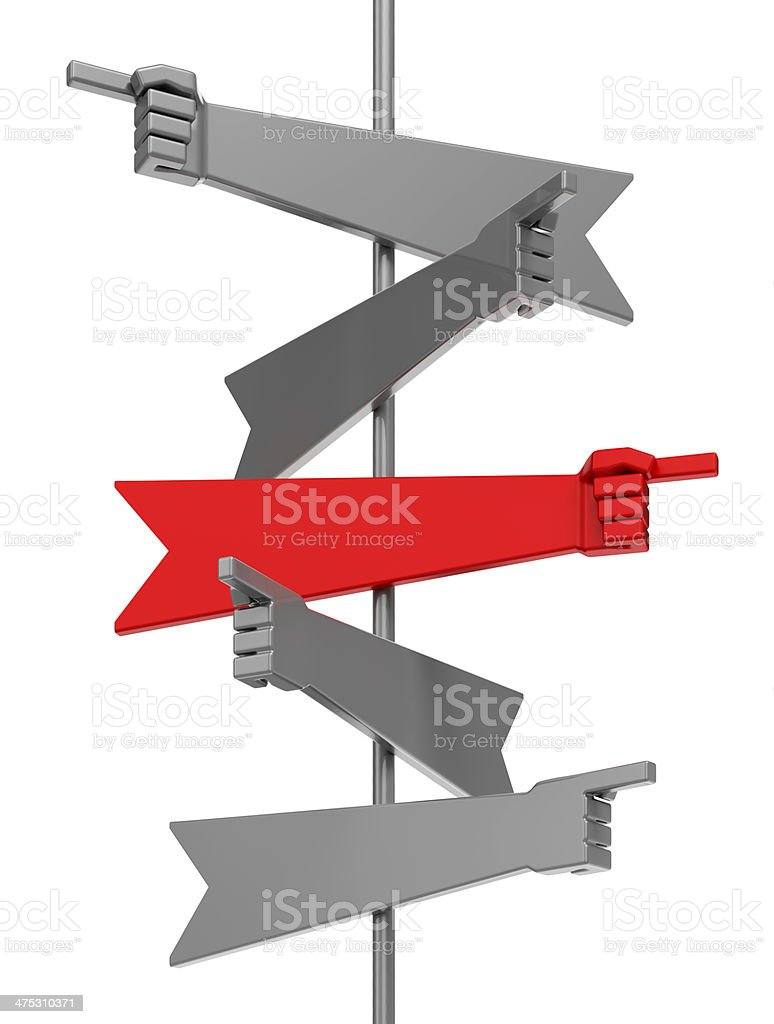 Turning To The Right Way stock photo