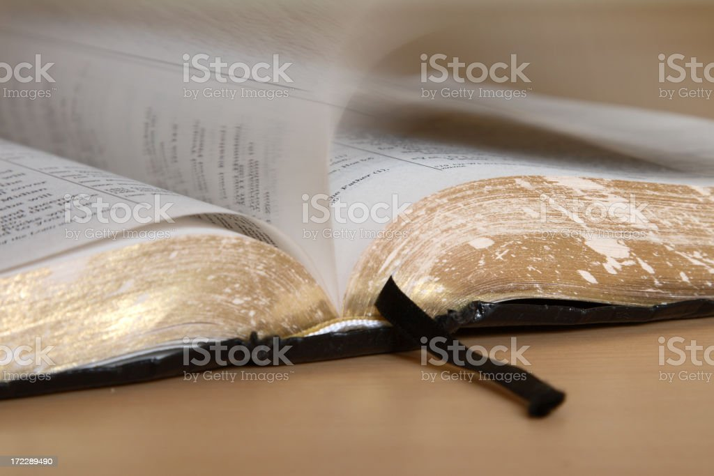 Turning to the Scriptures royalty-free stock photo