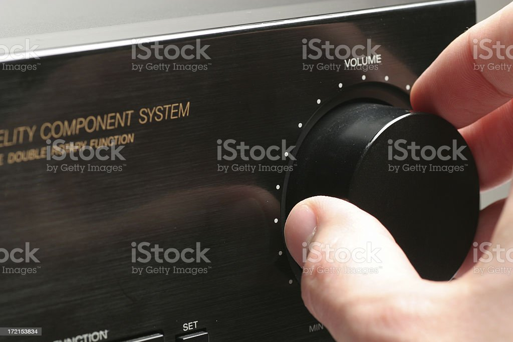 Turning up the volume stock photo