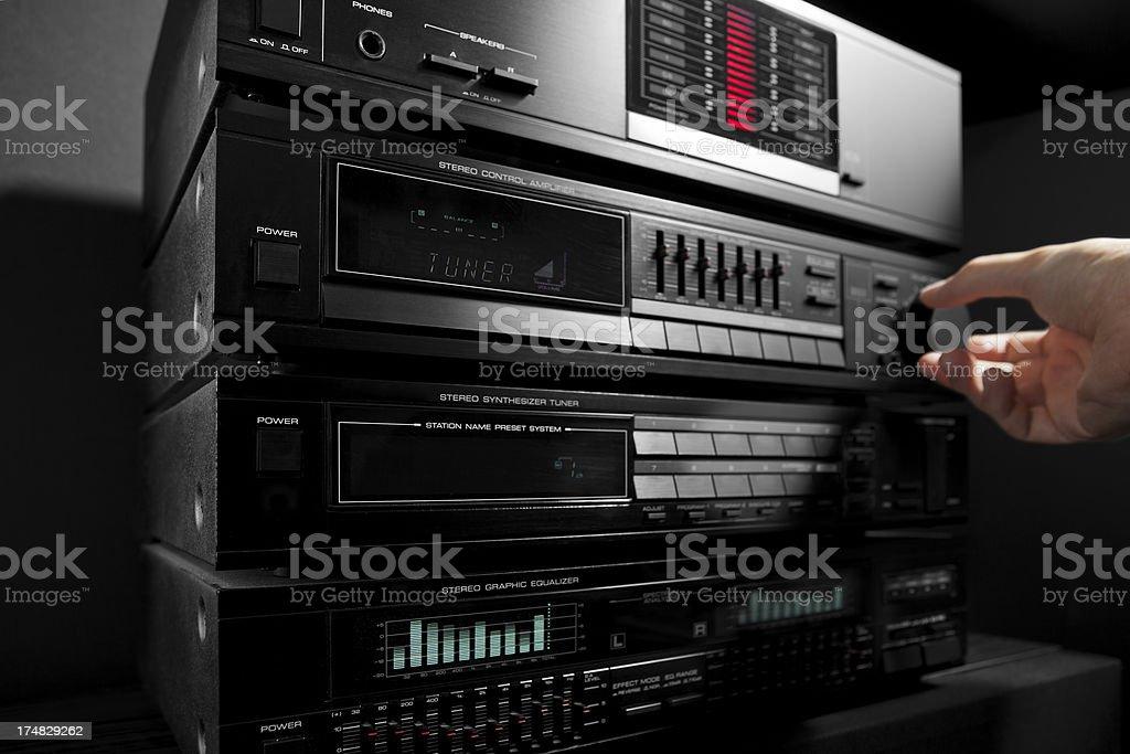 turning up the volume royalty-free stock photo