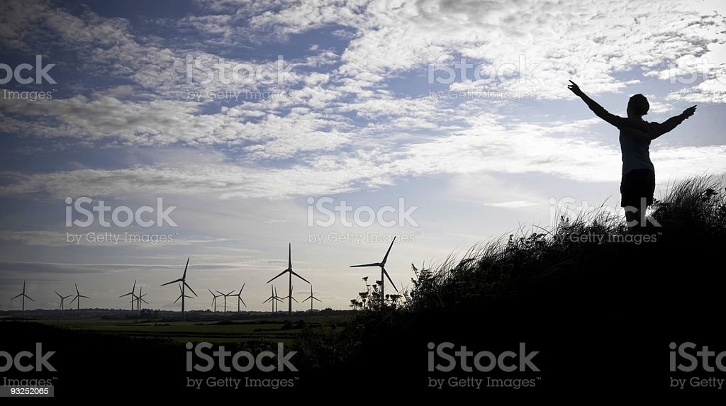 Turning with the wind royalty-free stock photo