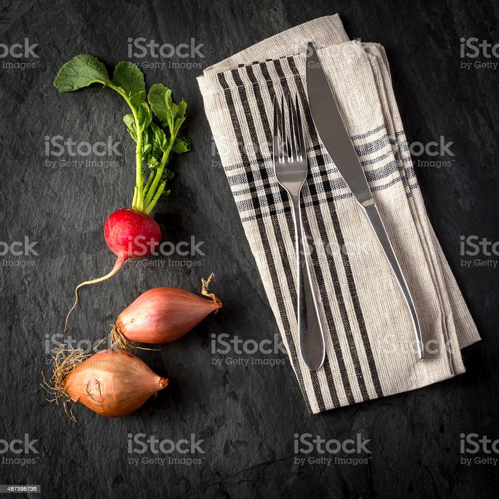 Turnips and Onions stock photo