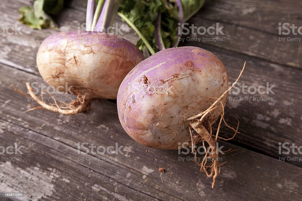 Turnips on a Table stock photo