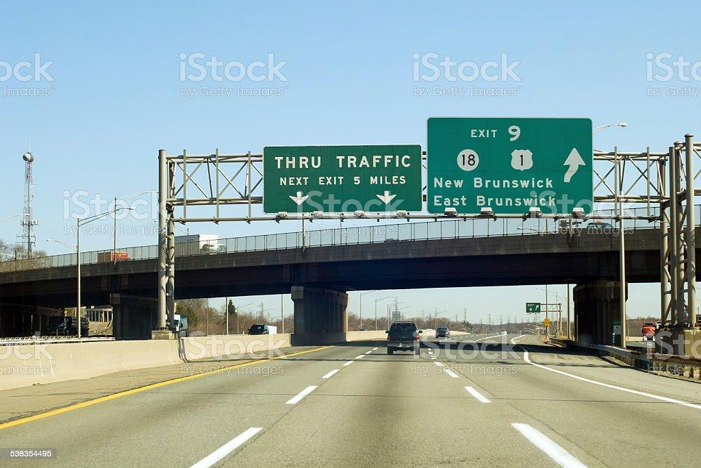 NJ Turnpike stock photo