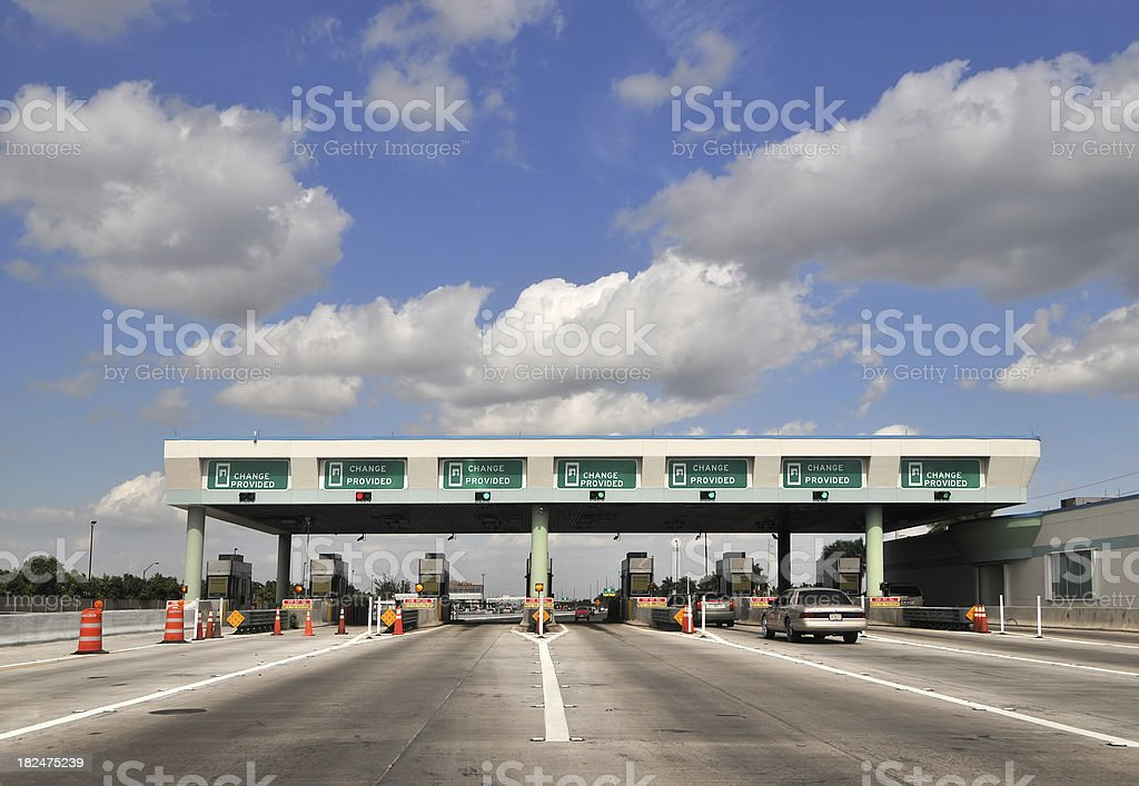 Turnpike Toll stock photo