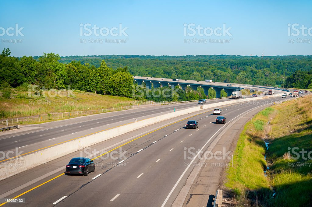 Turnpike vista stock photo