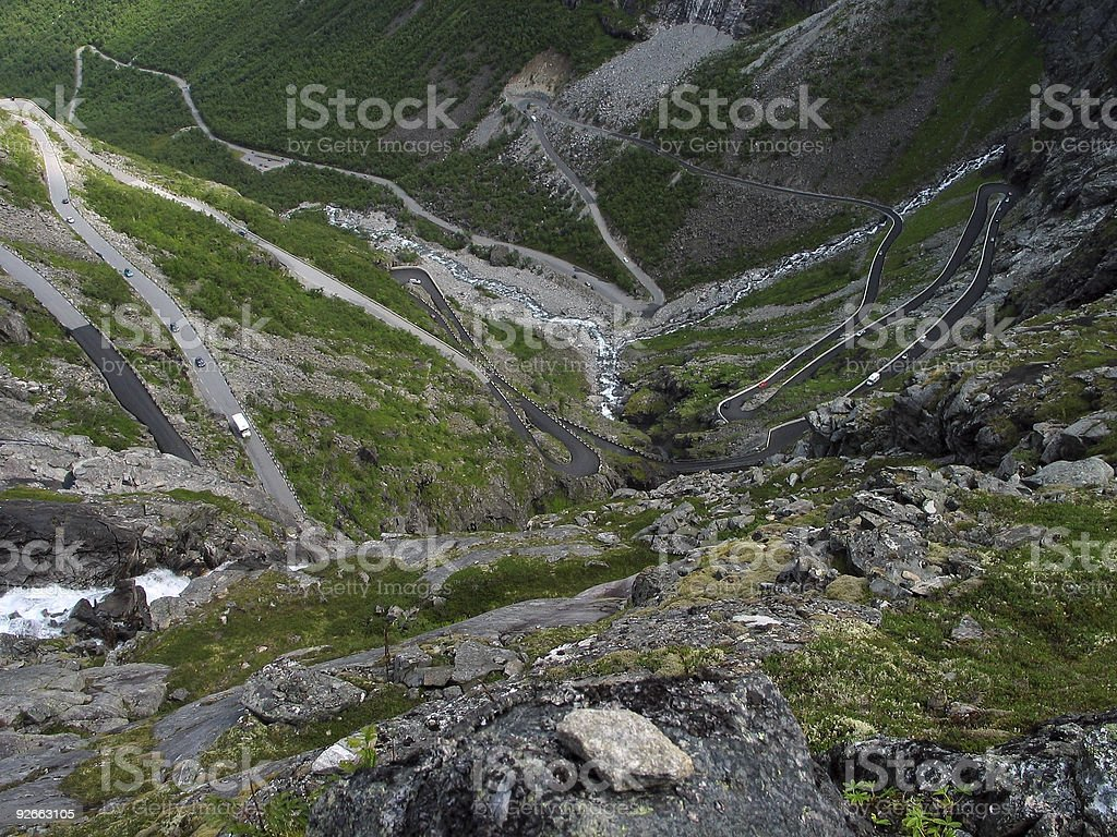 turns of  'The Troll Route', Norway royalty-free stock photo