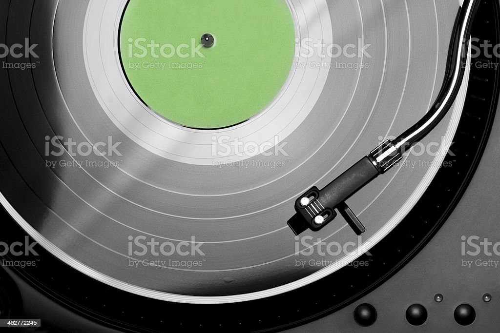 Turntable detail royalty-free stock photo