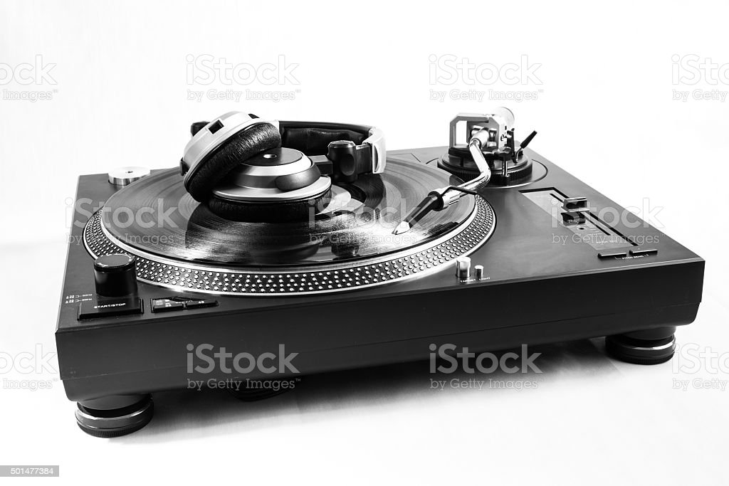 Turntable DJ setup stock photo