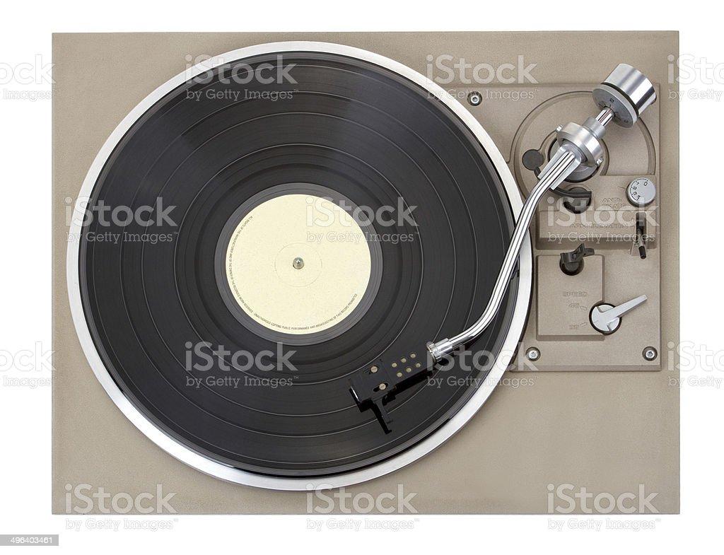 Turntable, isolated on white background stock photo
