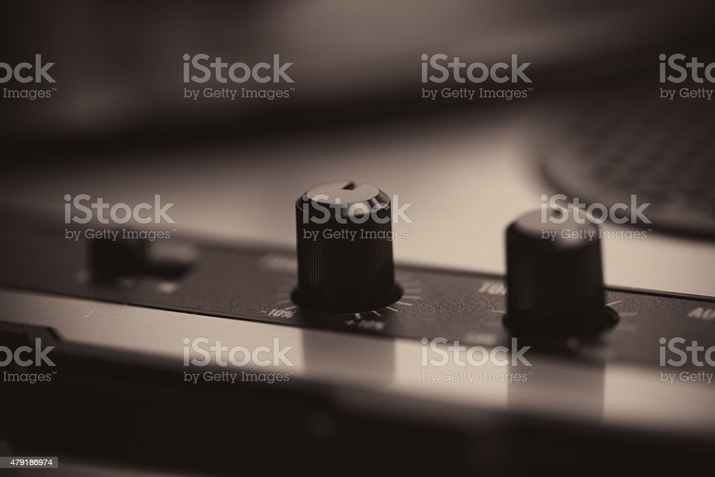 Turntable Knobs stock photo