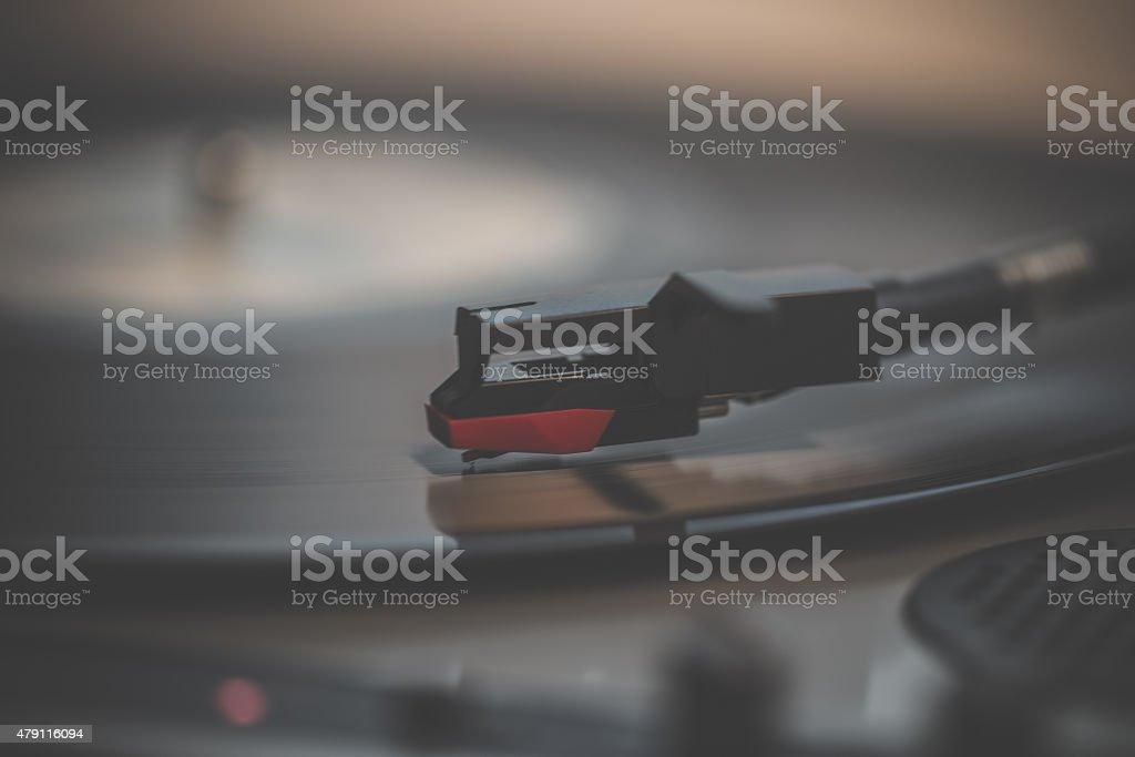 Turntable Needle stock photo