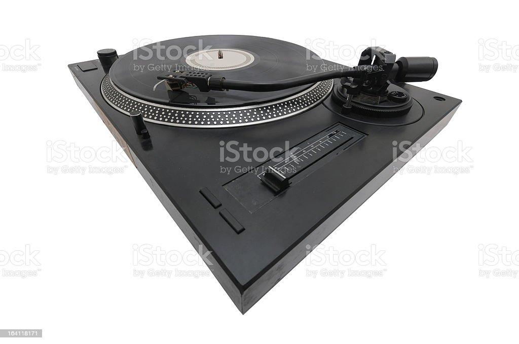 DJ turntable royalty-free stock photo