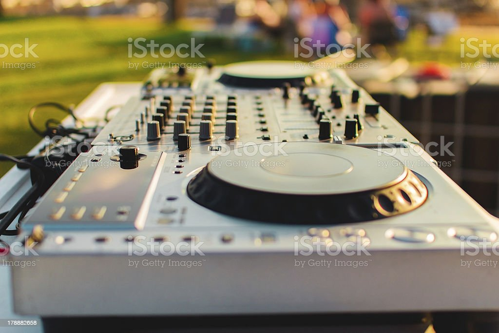 Turntable royalty-free stock photo