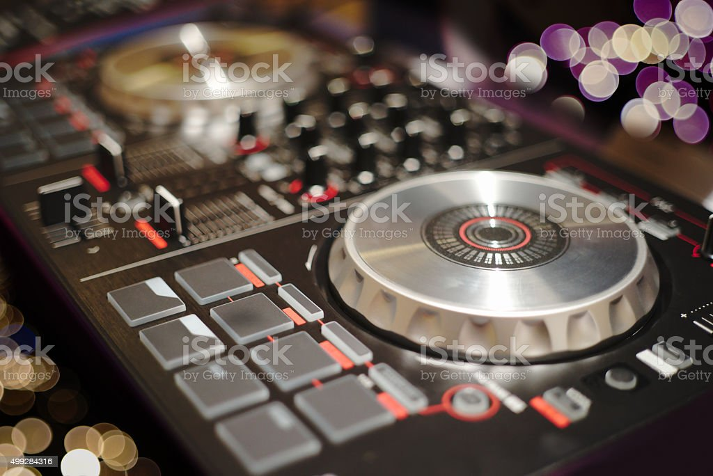 DJ Turntable stock photo