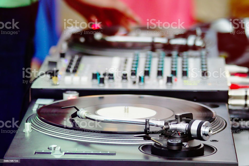 DJ Turntable stock photo