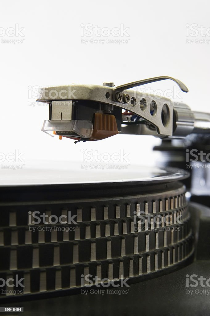 Turntable recordarm stock photo