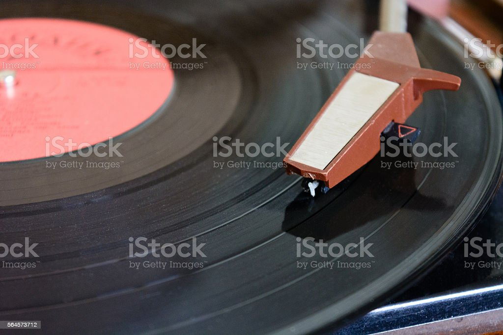 turntable vinyl record player stock photo