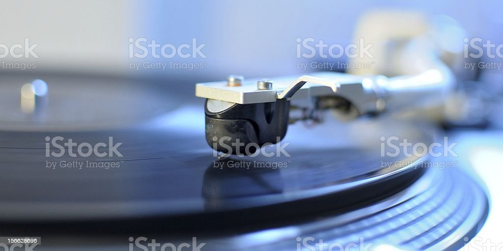 Turntable with the arm royalty-free stock photo
