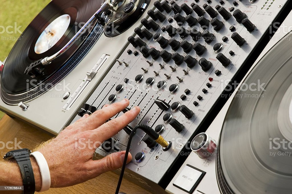 turntables royalty-free stock photo