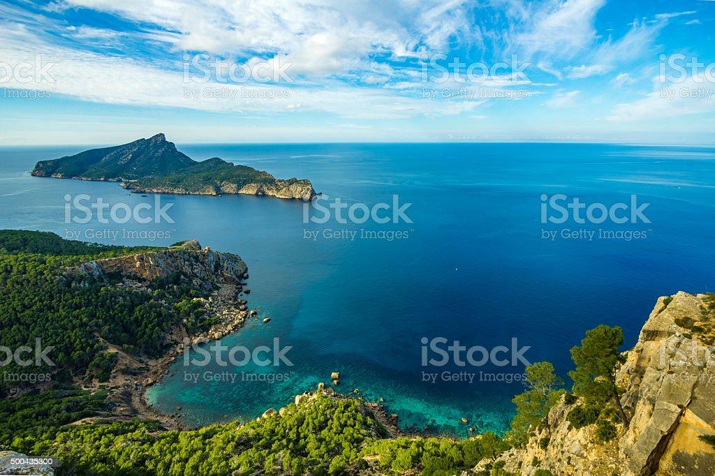 터크와즈 Dragonera 도서지역 라 Trapa 마운틴 마요르카 팔마 데 마요르카 스톡 사진 500435300   iStockAmazing view from La Trapa on Dragonera Island and in Majorca...