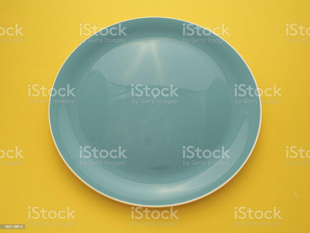 Turquiose plate royalty-free stock photo