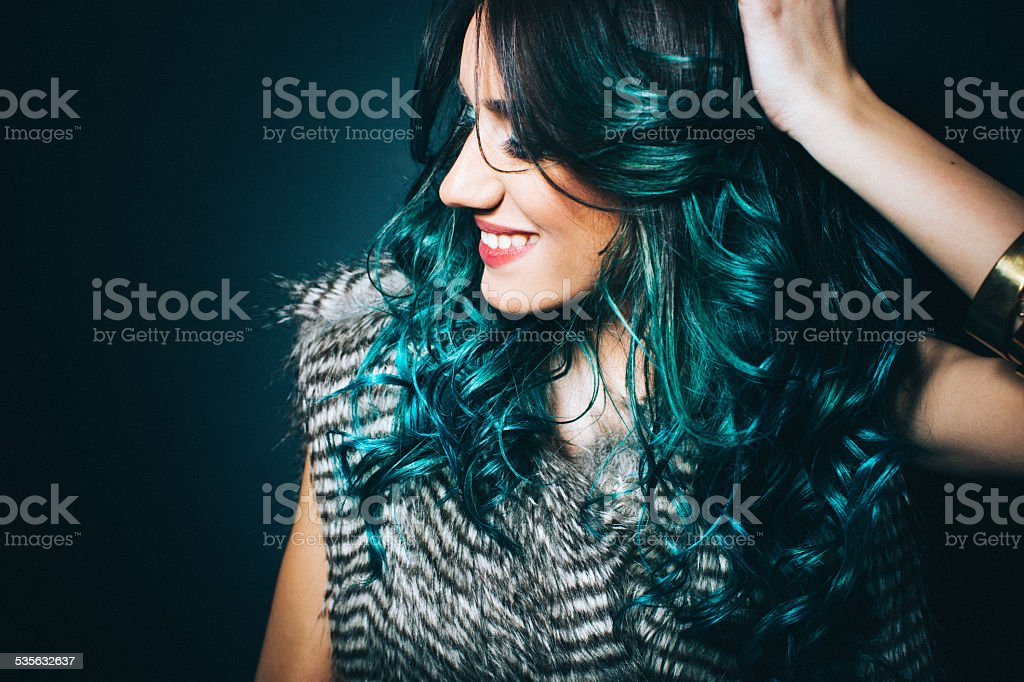 Turquise and fashionable stock photo