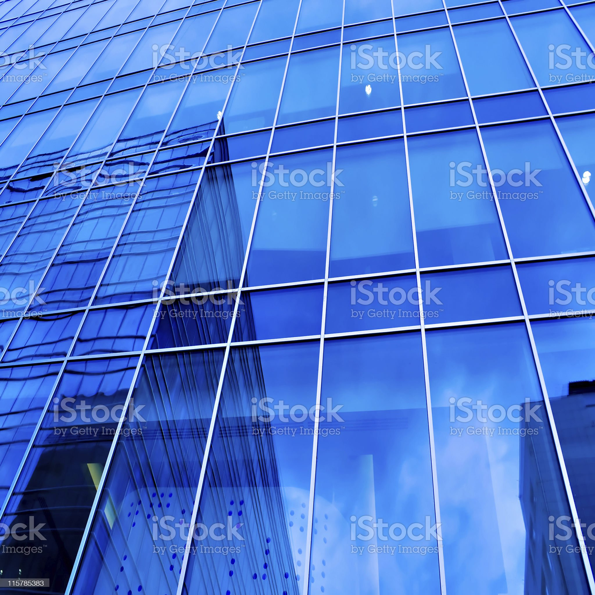turquoise abstract wall of modern business office royalty-free stock photo