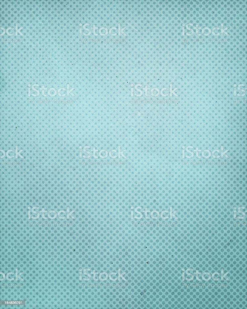 turquoise antique paper with halftone stock photo
