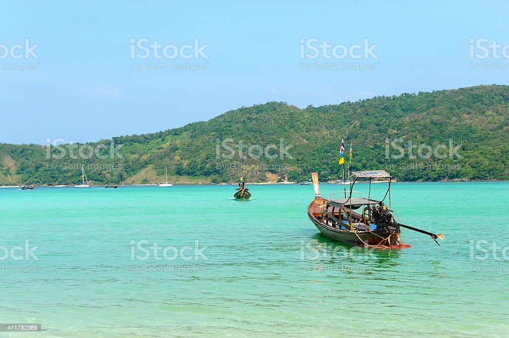 Turquoise bay in Thailand royalty-free stock photo