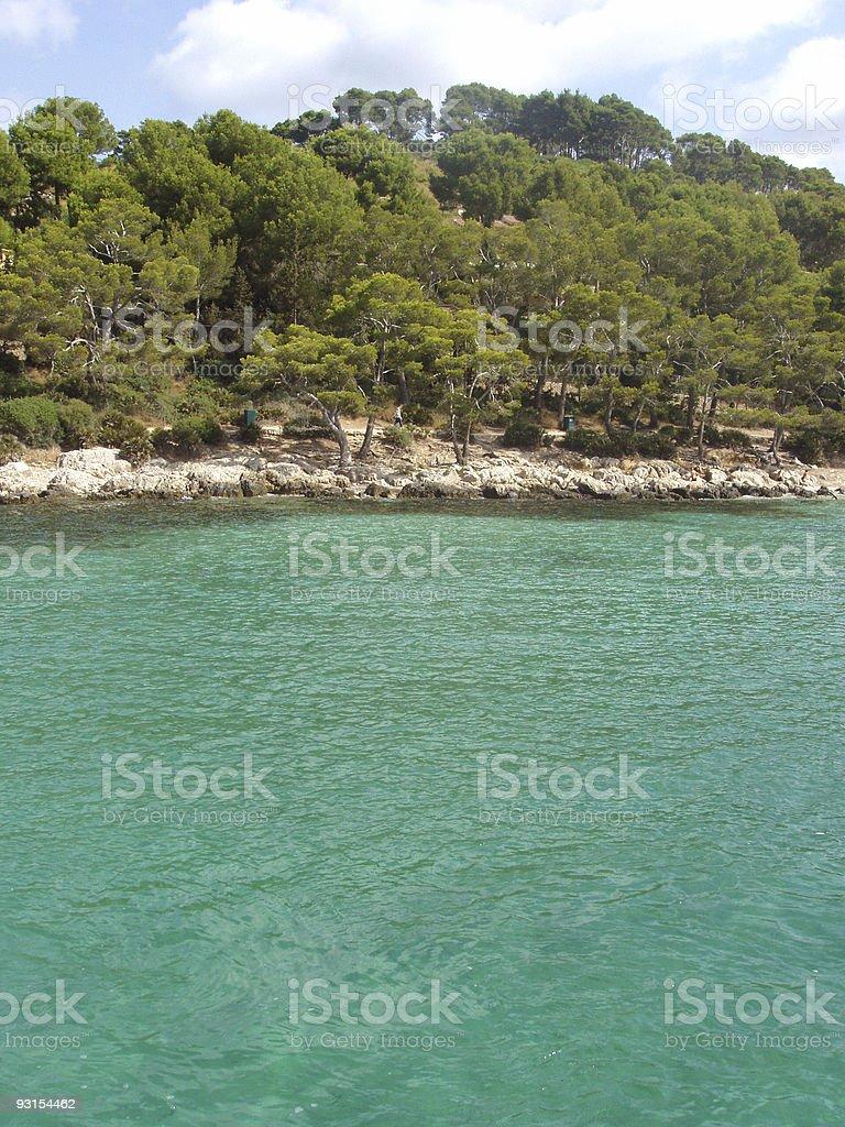 Turquoise beach in Mallorca island stock photo