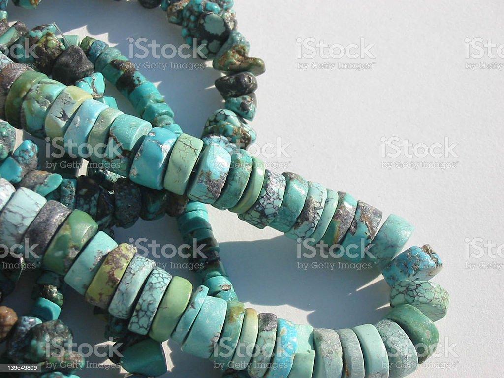 Turquoise beads royalty-free stock photo