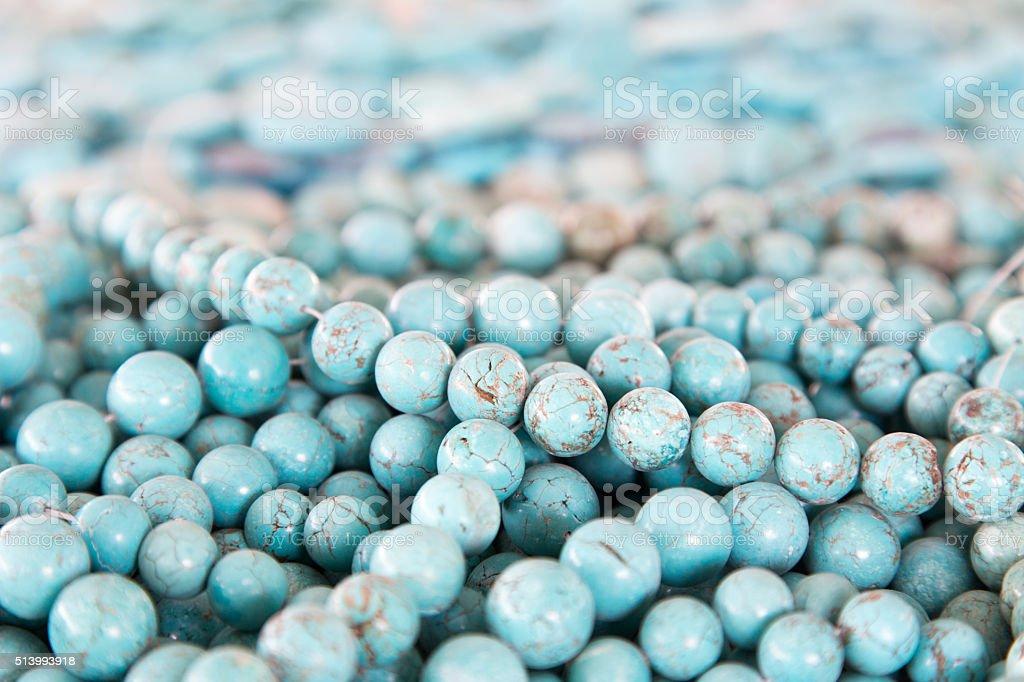 turquoise beads stock photo