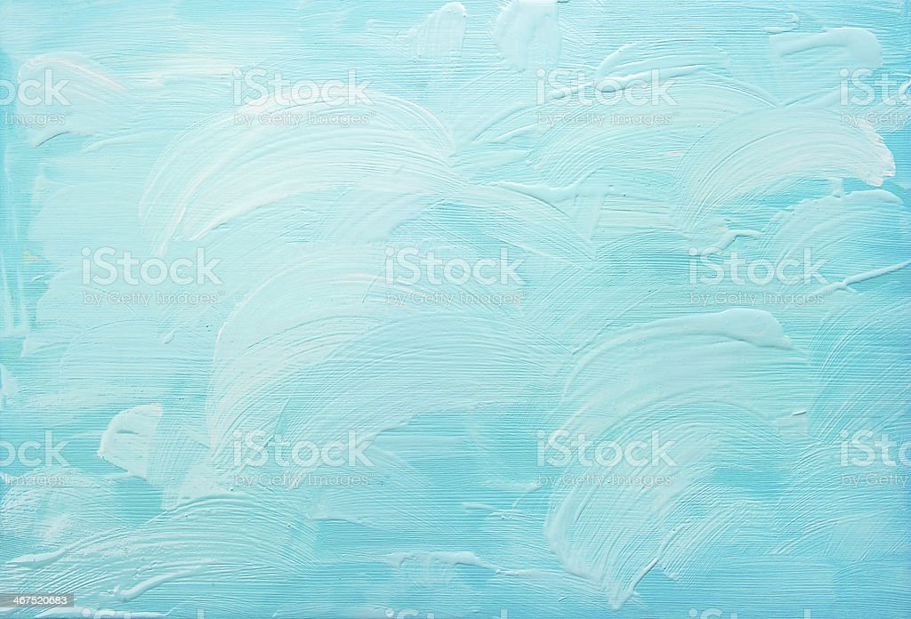 turquoise blue abstract acrylic background stock photo