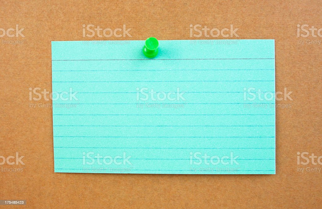 Turquoise Blue Green Notecard royalty-free stock photo