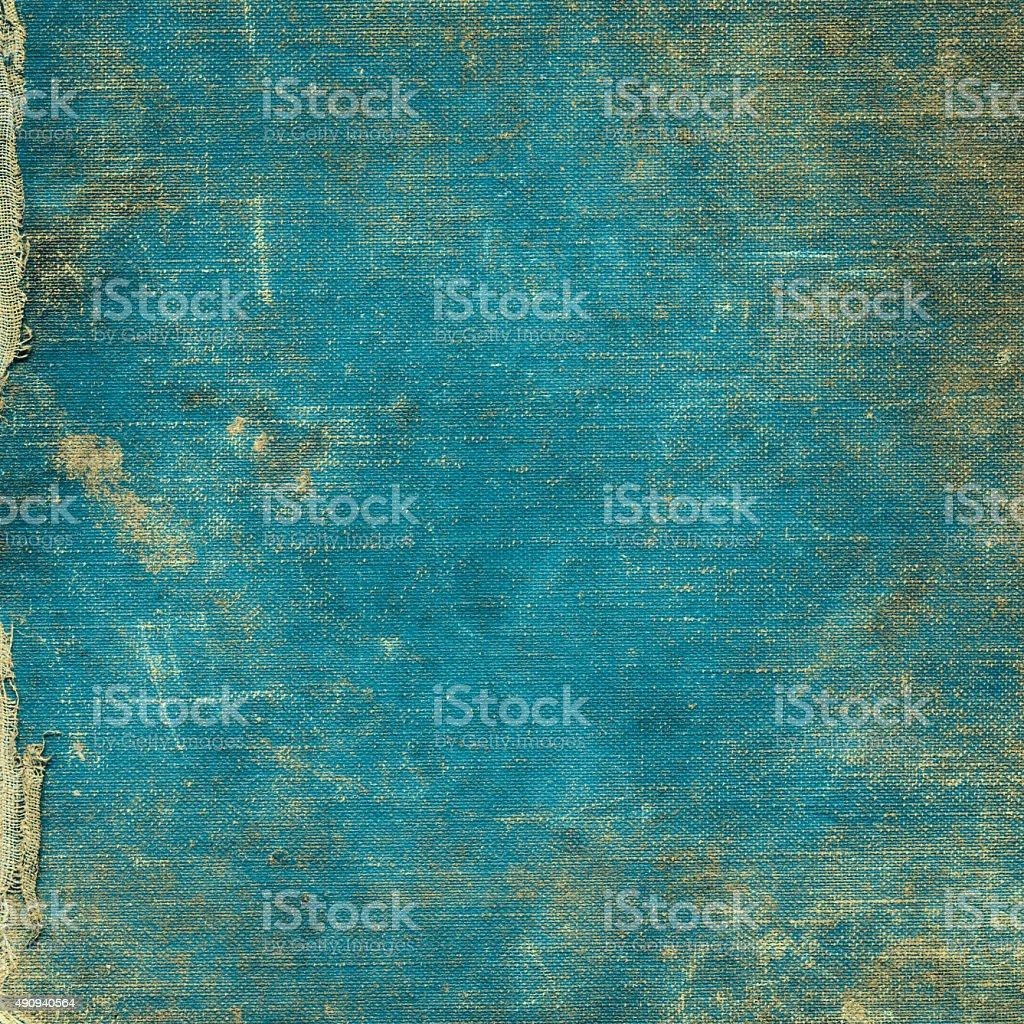 Turquoise blue vintage fabric background stock photo