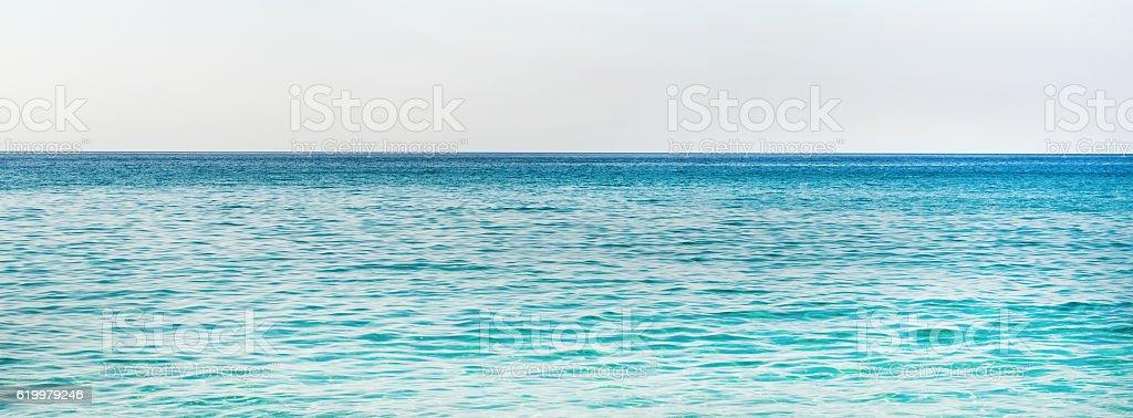Turquoise blue water of Mediterranean sea in Alanya, Turkey stock photo