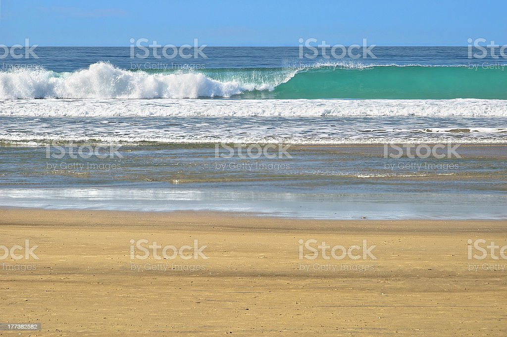 Turquoise Breaking Wave stock photo