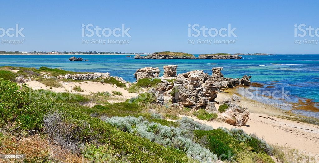 Turquoise Coastal Views: Western Australia stock photo