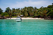 Turquoise crystal clear tropical sea