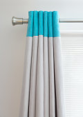 turquoise curtain tops