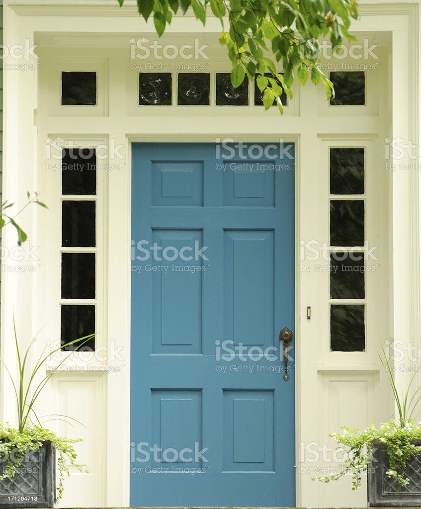 Turquoise Door stock photo