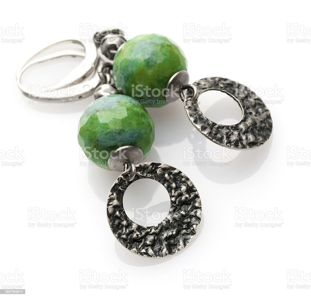 turquoise earrings royalty-free stock photo